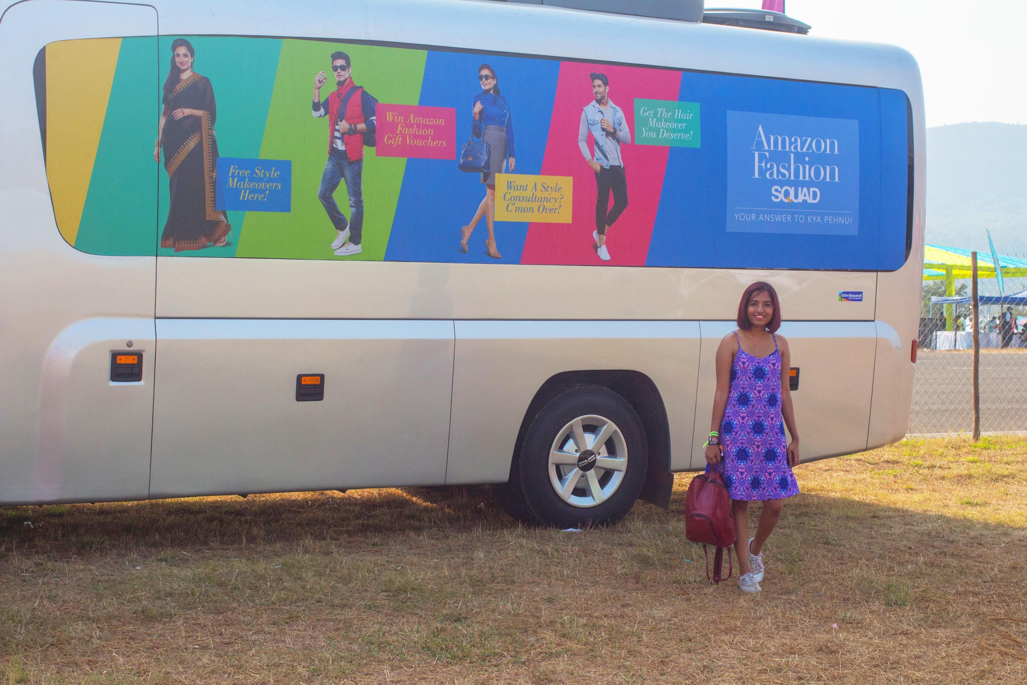 Amazon Fashion Squad Bus at EVC #kyapehnu