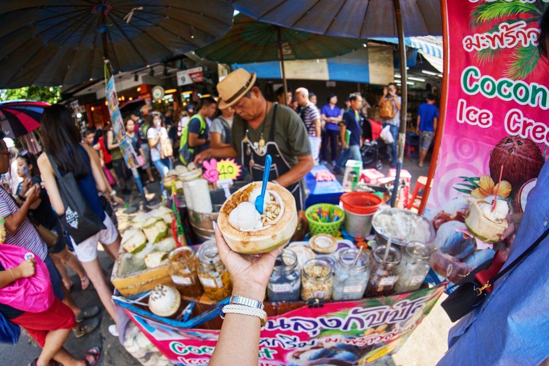 Bangkok Fashion Lookbook   Chatuchak Market   Coconut Ice Cream