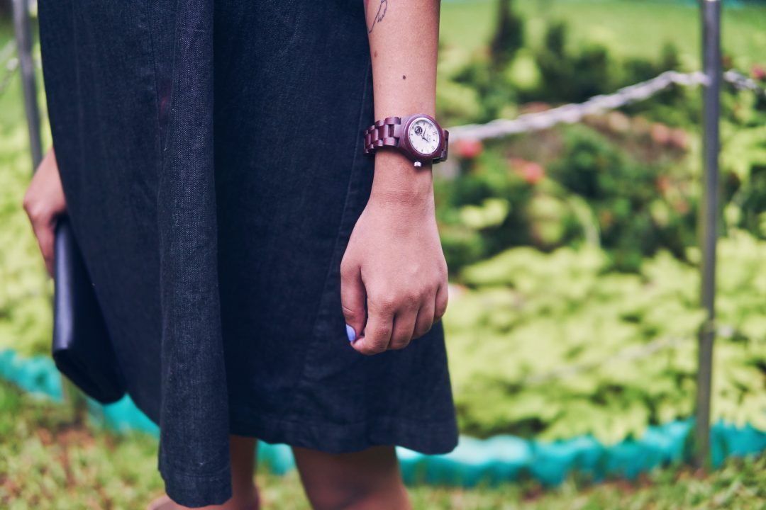 Mumbai Monsoon Style, Jord Wood Watch in Purple Heart